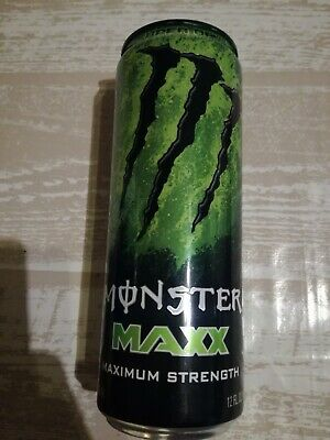 1 Volle Energy Drink Dose Monster MAXX Super Dry Strength Full Can Coca Cola USA