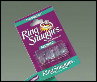 2 x ORIGINAL RING SNUGS SNUGGIES RING SIZE REDUCERS ADJUSTERS 2mm-6mm TOP BRAND