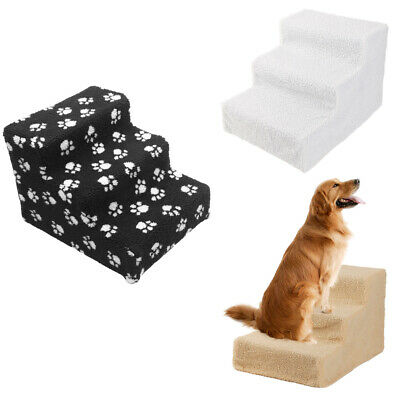 Soft Portable Pet Stairs 3 Step Climb Dog Ladder Cat Ramp Steps Stair w/ Cover
