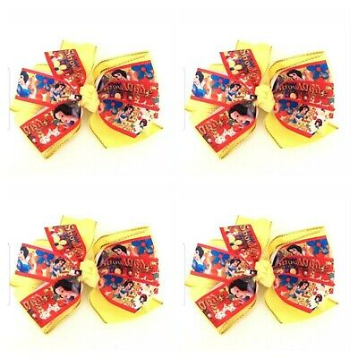 Handmade Girls Snow White Hair Bow Clip Aprox 4 inch   Sold as Single  (SALE)