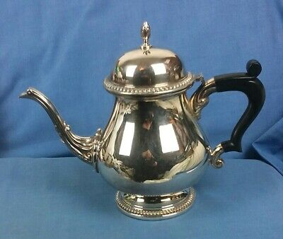Mappin And Webb Silver Plate On Copper Tea Pot