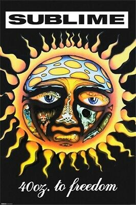 """SUBLIME - 40oz to FREEDOM - Music Poster """"24 x 36"""" - NEW"""