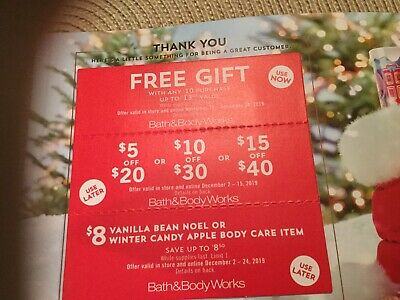 Bath & Body Works 3 Coupons