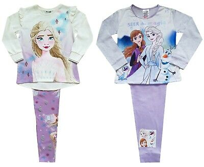 Disney Official Frozen 2 Girls Pyjamas Anna /& Elsa Pjs Age 4 to 10 Years
