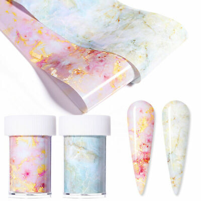 Marble Nail Foils Transfer Stickers Nail Art Decals Manicure DIY Tips Decoration