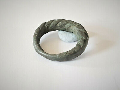 Medieval Viking Bronze Twisted Ring 8-10 Ad