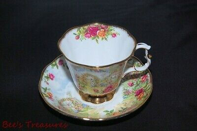 Royal Albert Old Country Roses 25th Anniversary Tea Cup & Saucer