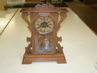 Ansonia 1880 Parlor Clock - 8 day time only movement. Runs but missing chime