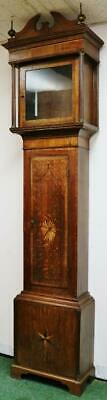Antique English Inlaid Oak Longcase Grandfather Clock Case Only, Spares/Repair