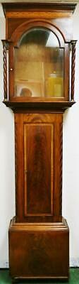 Antique English Unusual Mahogany Longcase Grandfather Clock Case, Spares/Repair