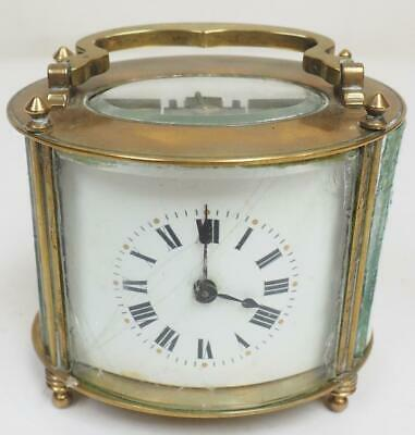 Superb Antique French 8 Day Bronze & Bevelled Glass Carriage Clock Restoration