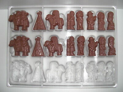 NEU! SCHOKOLADENFORM COWBOYS & INDIANER NEW chocolate mold ANTON REICHE # 30296