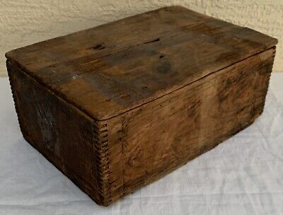Antique Wood Crate ad Minute Gelatine Whitman Grocery wooden rustic Orange MA