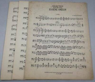 Eugene Onegin Selection From Opera Cello Tschaikowsky Antique Sheet Music 1920s