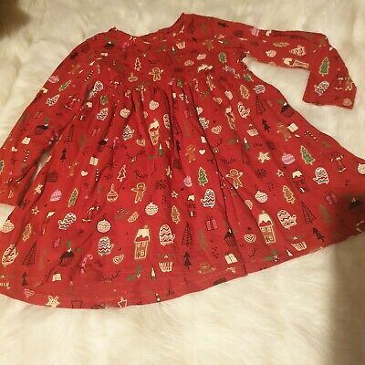 girls 3-4 years long sleeved tunic dress gingerbread Christmas clothes next