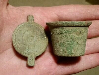Bullion Cup Weight & Lid IR Cypher James ?? 17th / 18th c Metal Detecting Finds
