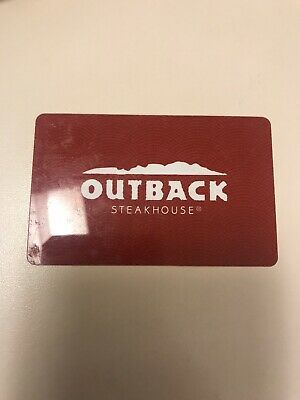 Outback Steakhouse $25 Activated Gift Card