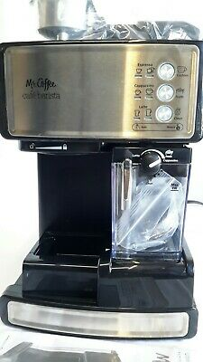 Mr. Coffee Espresso Cappuccino Machine - Café Barista - Black/Stainless Steel
