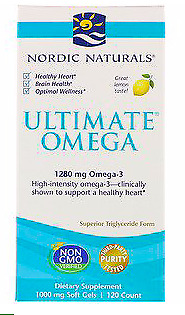 Nordic Naturals - Ultimate Omega - Lemon - 1,280 mg - 120 Soft Gels