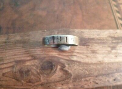 Evocative Trench Art Ring With Engravings Including '1917'-Metal Detecting Find