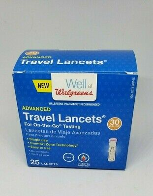 Walgreens 311917175041 Advanced Travel Lancets Testing 30 Gauge- 07/2021