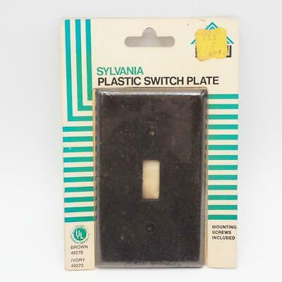 Vintage Sylvania Black  Plastic Switchplate Cover NOS