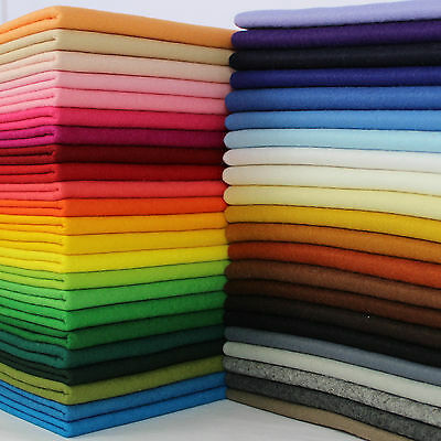 "30cmx180cm 60 colours 12/""x72/"" MINI ROLL of Premium Wool Blend Felt 40/% wool"