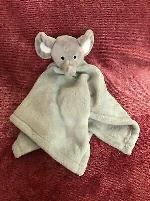 Moon & Stars Grey Elephant Comforter Blanket Blankie Baby Soft Toy