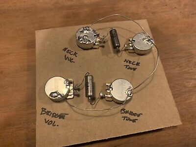 Les Paul 335 50s Style Pre-Wired Wiring Harness Kit | CTS Pots Paper-In-Oil Caps
