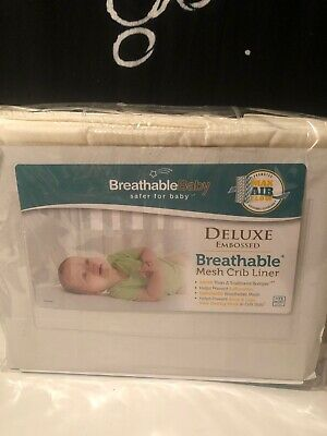 BreathableBaby Deluxe Embossed Mesh Crib Liner, Natural