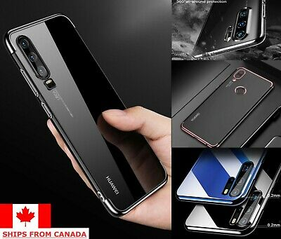 For Huawei P30 / Lite Pro Plating Clear Shockproof Ultra Slim TPU Case Cover