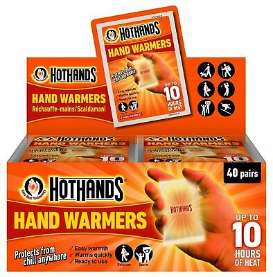1-40 HotHands hand warmers Heat Warm Hot Hands Packs of 2 outdoor cold walking