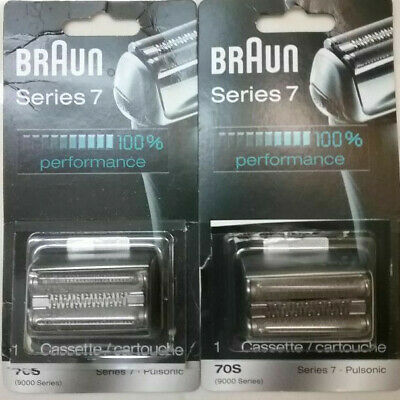 2 Braun Foil and Cutter Cassete (65692761) for Series 7 Shaver 9000 Series