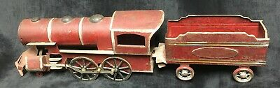 Victorian Era Tin Friction Hill Climber Toy Train Antique Vintage Estate  Old