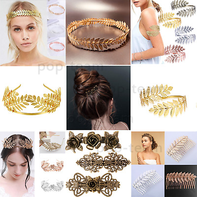 Greek Goddess Laurel Leaf Headband Bridal Tiara Wedding Crown Hair Accessories