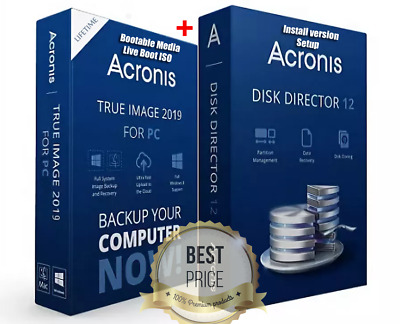 Acronis Disk Director 12 & Acronis True Image 2019 boot ISO | Lifetime License