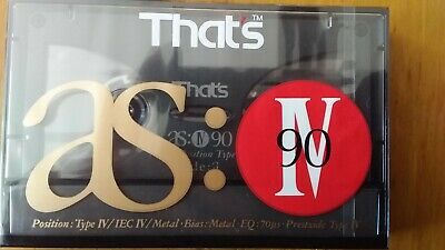 That's As Metal 90 Factory Sealed Audio Cassette Japan