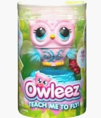OWLEEZ Interactive Flying Baby Owl Toy w/ Sounds & Lights Rechargeable PINK NIB