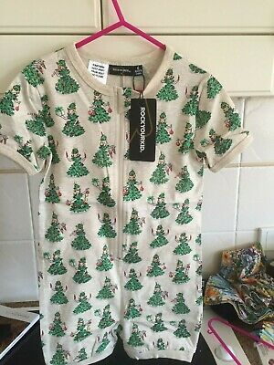 Rock Your Baby The Nice List All In One Sz 6 Bnwt