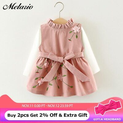 New embroidery Baby Clothing Sets Spring Autumn 2pcs Baby Girls Clothes