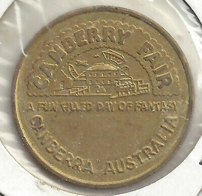 Canberry Fair Canberra Aust Uniface Token Brass 30.5mm