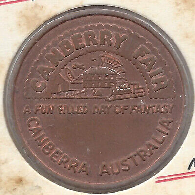 Canberry Fair Canberra Aust Uniface Token Copper 30.5mm