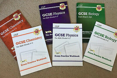 GCSE AQA Science Chemistry Biology Physics CGP Revision Books Bundle