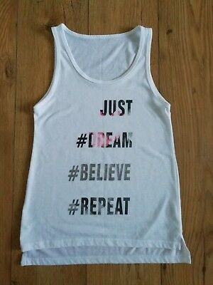 Girls YD Slogan Gym Vest Age 11-12