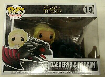 Funko Pop Rides Series: Game of Thrones; 15: Daenerys & Drogon (Damaged Box)