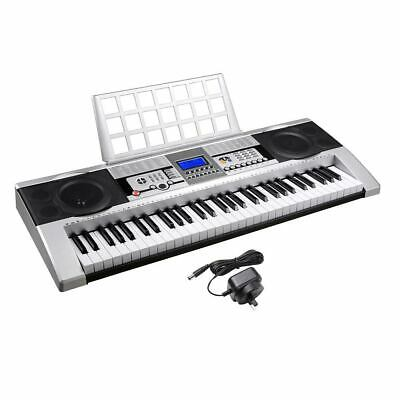 61 Keys Electronic Keyboard Electric Piano Power Adaptor LCD Speaker Demo Record
