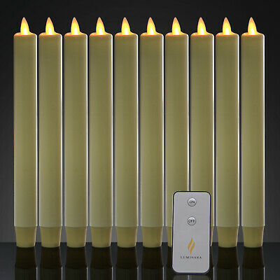 Luminara Battery Operated Taper LED Candles Flameless Flickering with Remote 8''