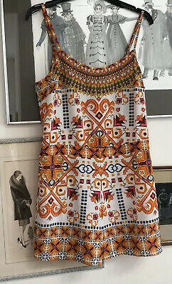 Camilla Beach House Signature Print Playsuit Size 2 10 - 12
