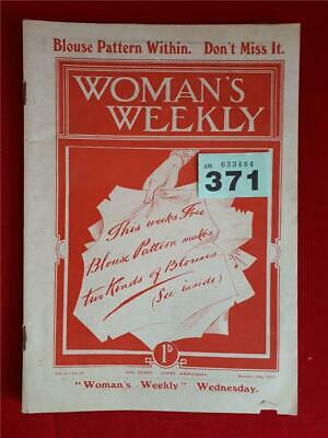 Very Rare Woman's Weekly with Free Blouse Pattern - October 19th 1912 - VGC