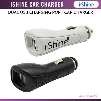 iShine Dual 2 Two USB Port Car Charger Universal Fast Adapter For All Phones